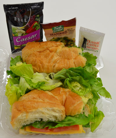 Turkey Croissant and Ceasar Salad Combo